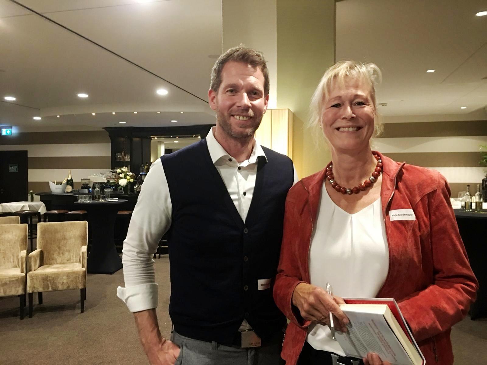 Kaja Bredemeyer trifft Bodo Janssen beim Film Die stille Revolution